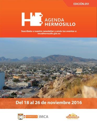 "Cover of ""Agenda Hermosillo 18 nov 2016"""
