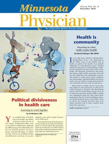 MN Physician November 2016 by Minnesota Physician Publishing