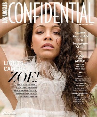 68730d88c46b Los Angeles Confidential - 2016 - Issue 6 - Winter - Zoe Saldana by ...