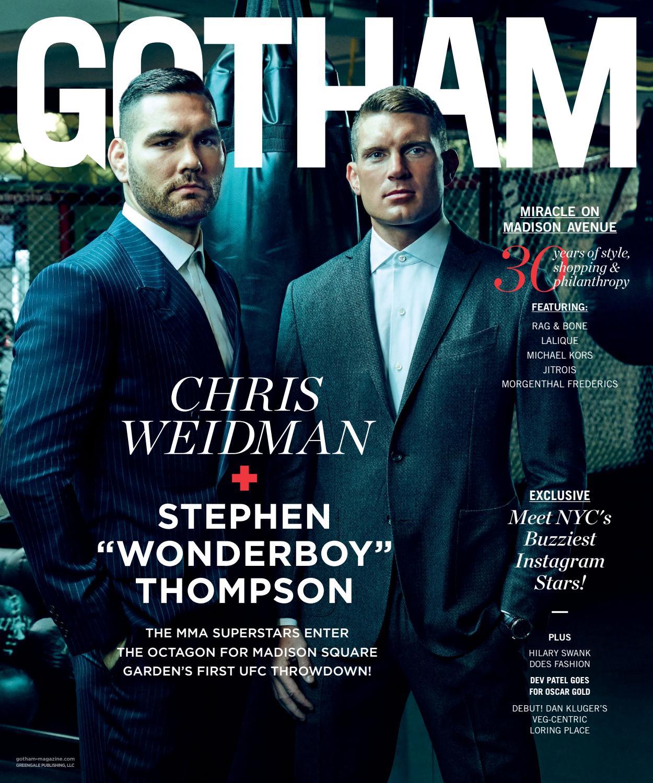 43ce6cfd85 Gotham - 2016 - Issue 6 - Winter - Chris Weidman   Stephen
