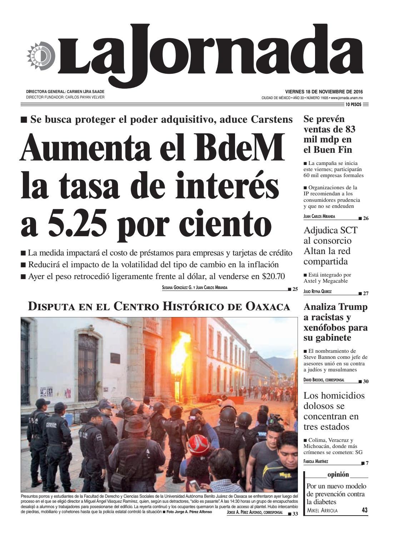 La Jornada, 11/18/2016 by La Jornada: DEMOS Desarrollo de Medios ...
