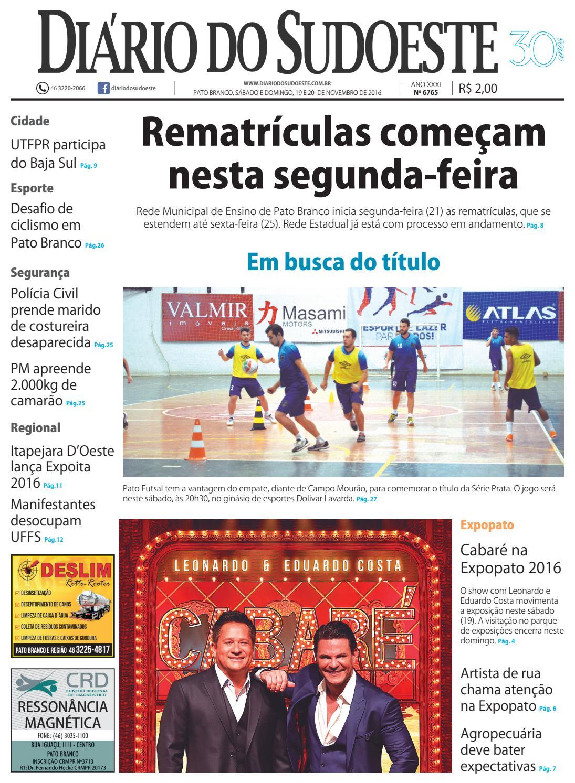 47d9d812d Diário do sudoeste 19 e 20 de novembro de 2016 ed 6765 by Diário do  Sudoeste - issuu