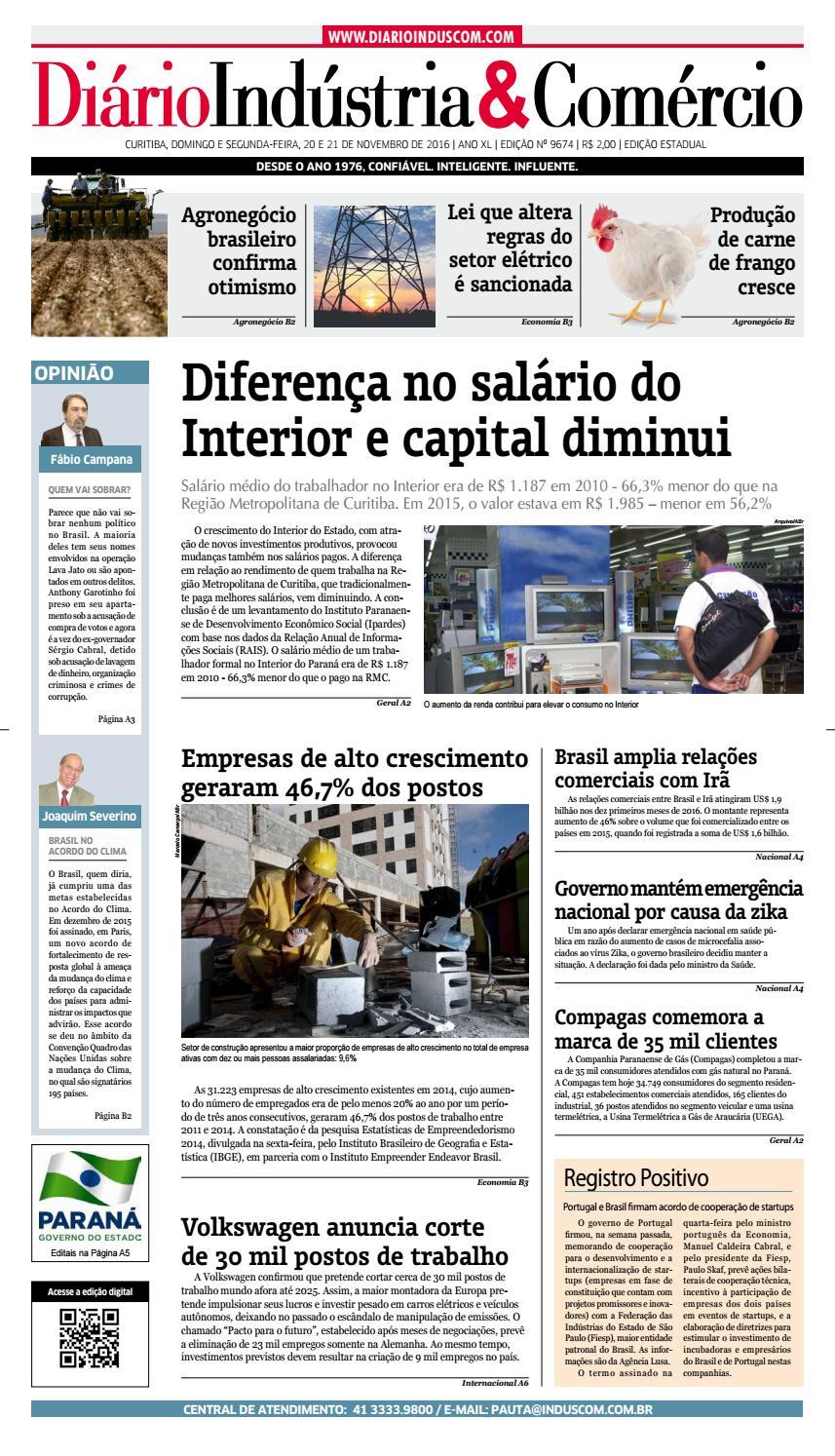 Diário Indústria Comércio - 19 de novembro de 2016 by Diário Indústria    Comércio - issuu 9e609e834d