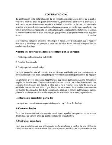 Modelo De Contratacion By Rosmery Flores Issuu