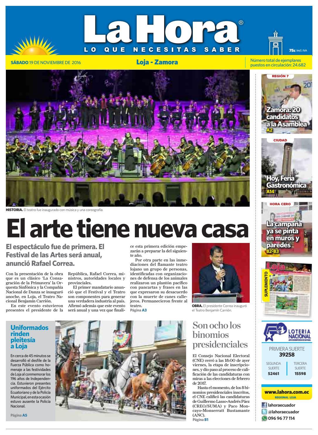 Diario La Hora Loja 19 De Noviembre 2016 By Diario La Hora Ecuador  # Muebles Sumar Ecuador