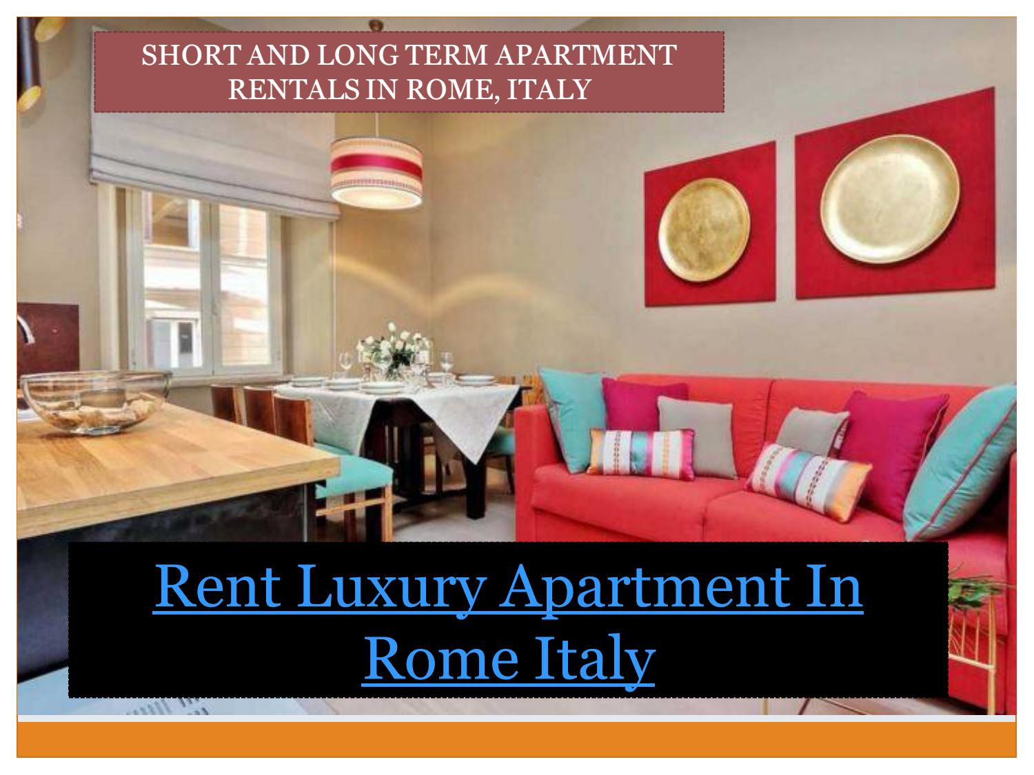 Rent Luxury Apartment In Rome Italy By Rentals Issuu
