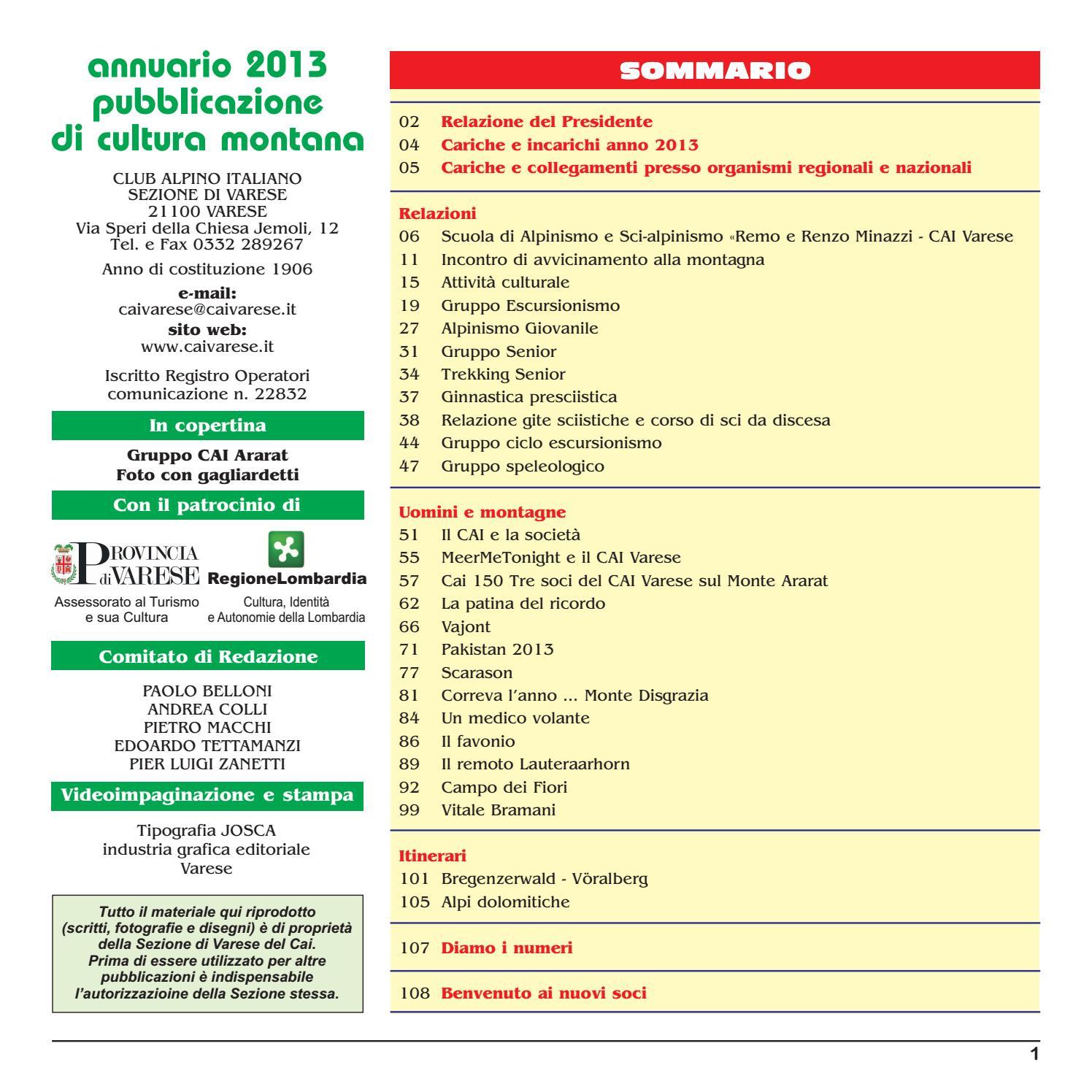 Annuario 2013 CAI Varese by Club Alpino Italiano - Sezione di Varese - issuu 95443ca1cfb