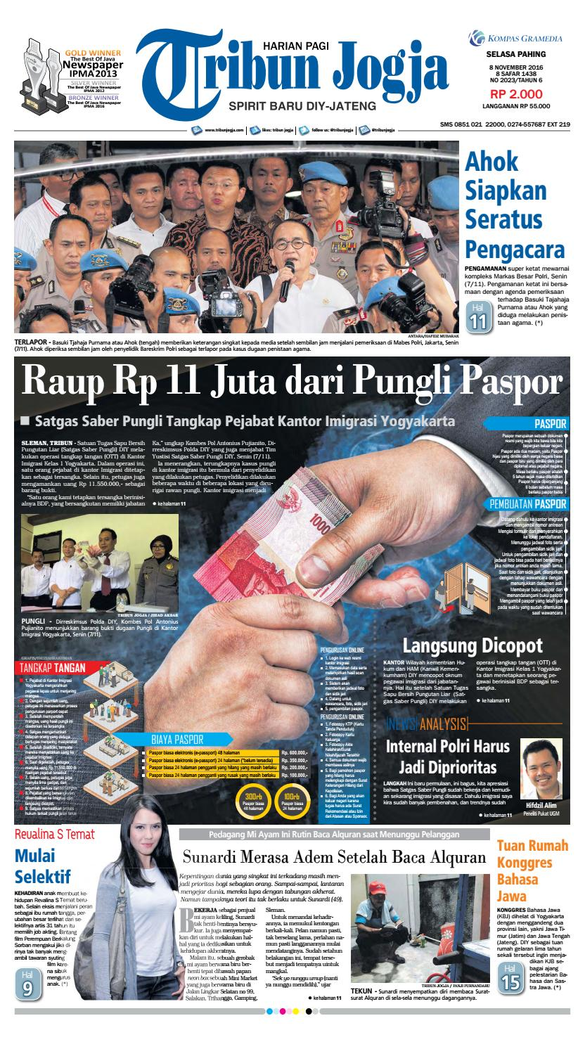 Tribunjogja 08 11 2016 By Tribun Jogja Issuu Produk Ukm Bumn Batik Tulis Warna Alam Ra Ampamp