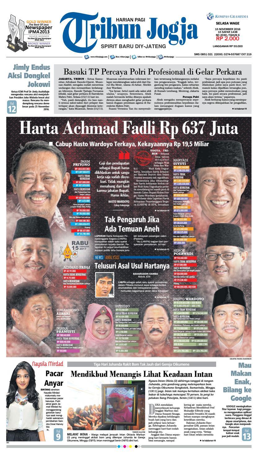 Tribunjogja 15 11 2016 By Tribun Jogja Issuu Produk Ukm Bumn Wisata Mewah Bali 3hr 2mlm