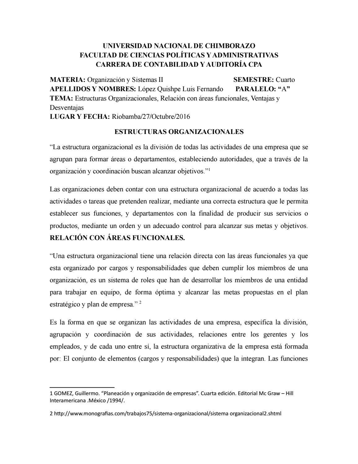 Estructuras Organizacionales By Fernando Issuu