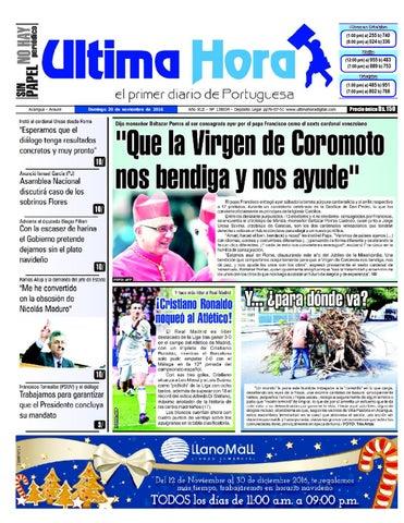 Edición 20 11 2016 by Ultima Hora - El primer diario de Portuguesa ... 2c433351b9b