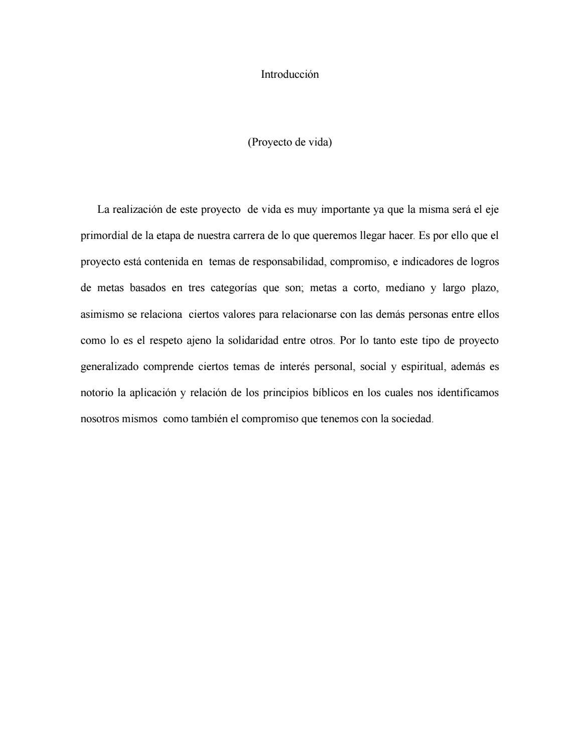 Proyecto vida by Luis Martinez   issuu