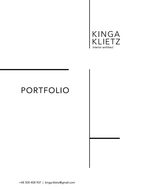Interior architecture design portfolio by kinga klietz for Interior design praktikum