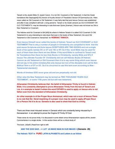 Tanakh Vs Trinity ,Tanach Vs Trinity by TRINITYVSUNITY - issuu