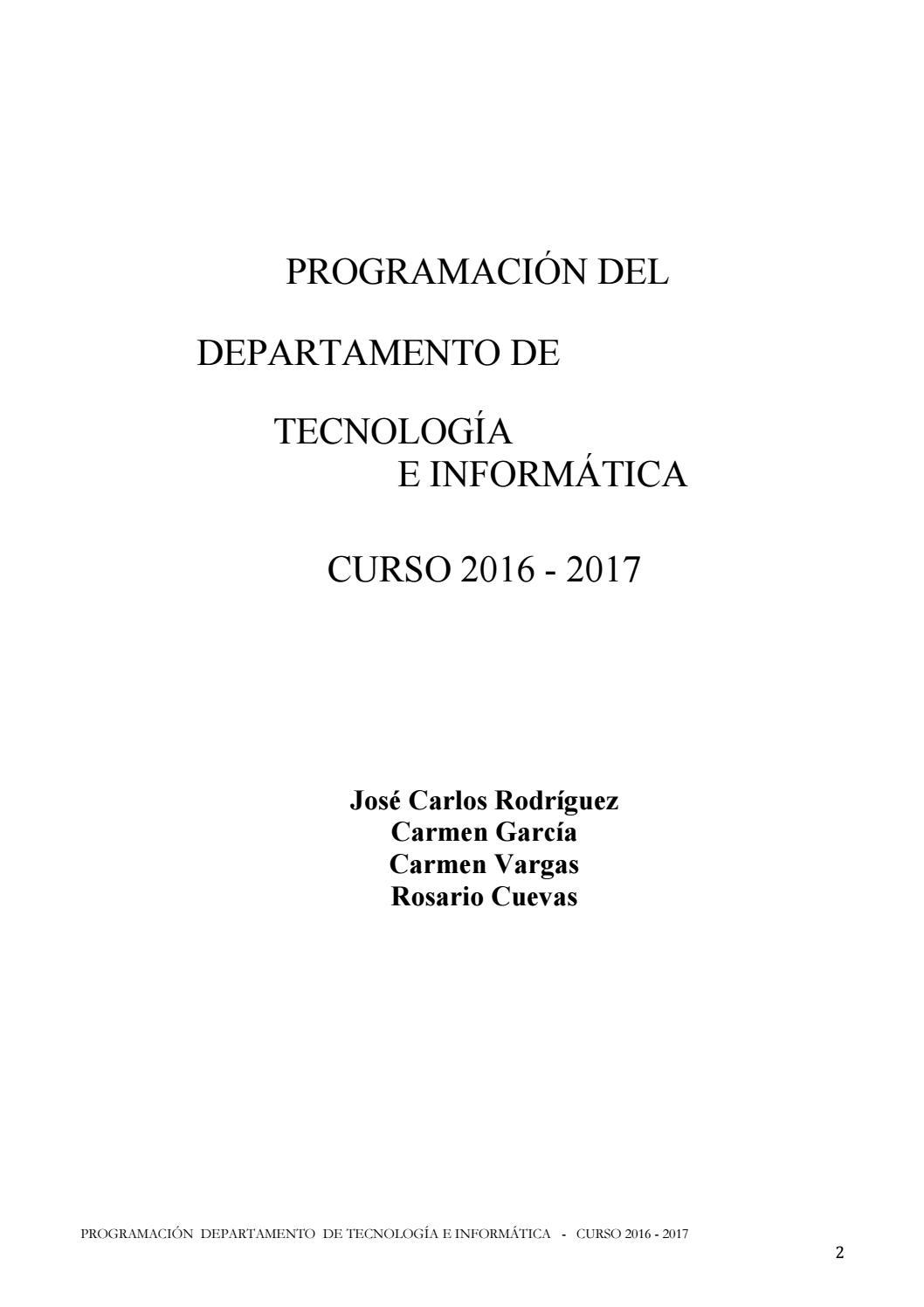 Programacion tecnologia 16 17 by Carmen García - issuu