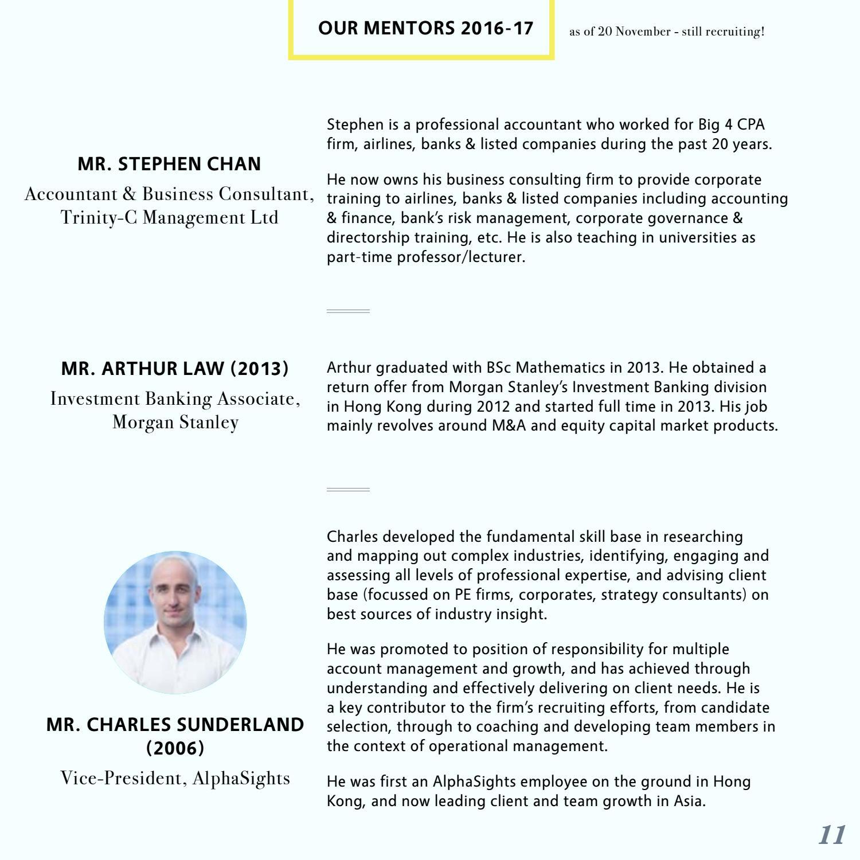 UCL Hong Kong Alumni Mentorship Programme 16/17