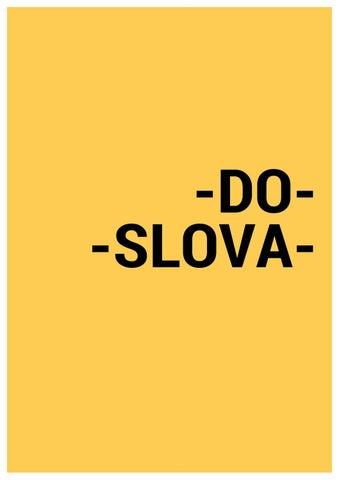do slova by Ian Schlendri - issuu 2aad159b3d