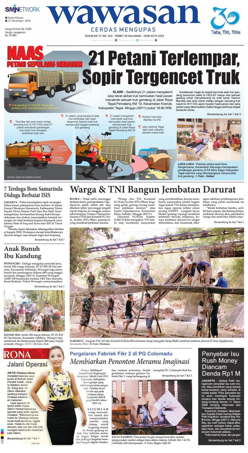 Wawasan 21 Nopember 2016 By Koran Pagi Wawasan Issuu