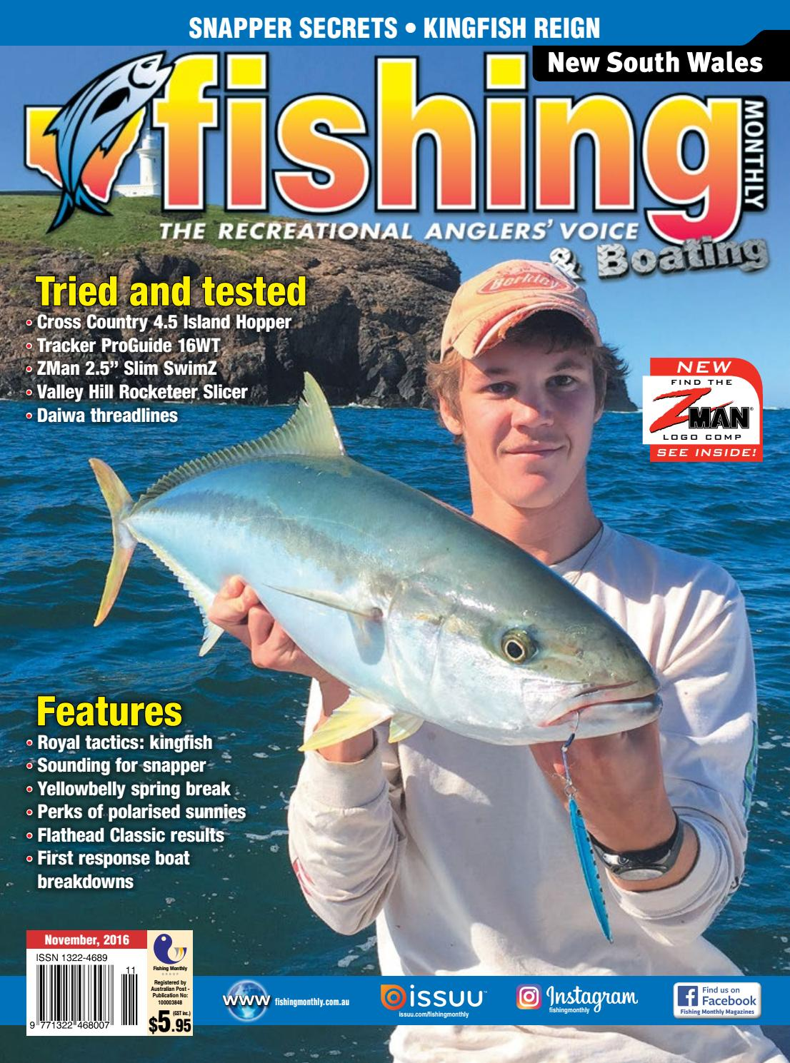 e33d35e7e7f NSW Fishing Monthly November 2016 by Fishing Monthly - issuu