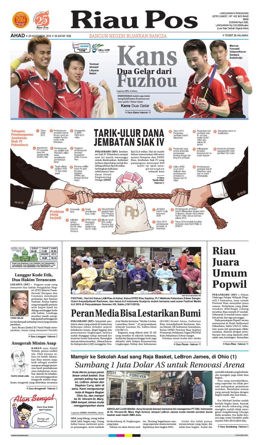 2016 11 20 By Riau Pos Issuu