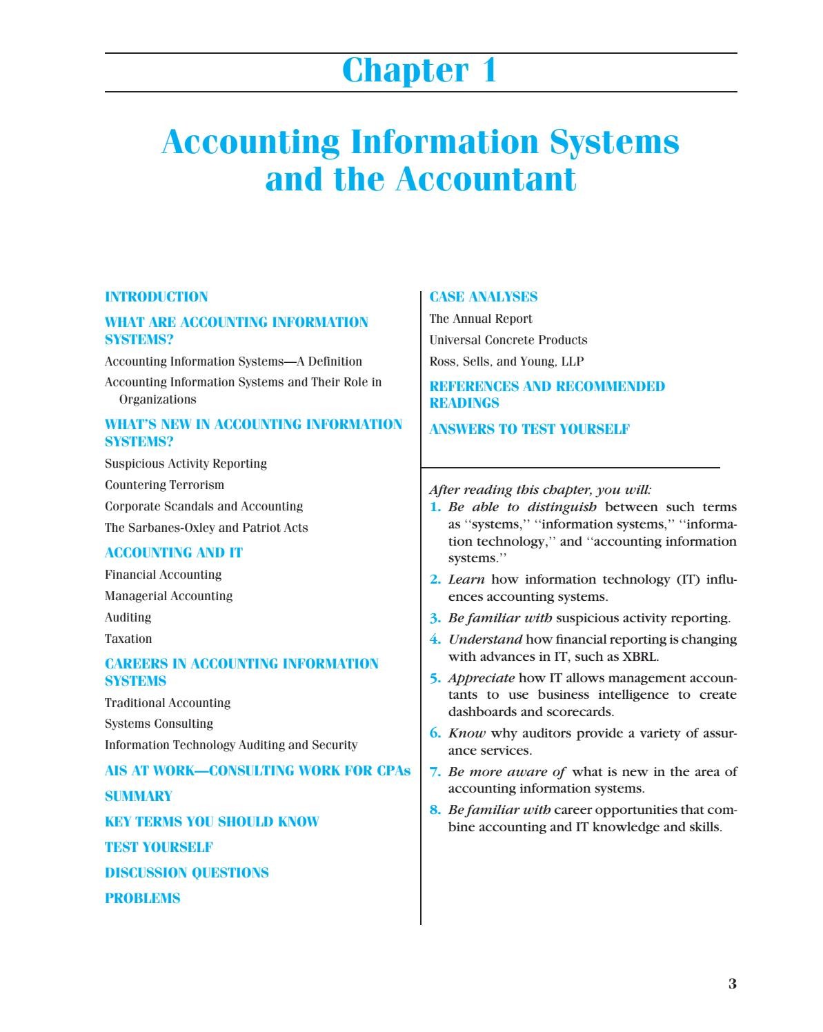 chapter 1 accounting information systems and 1 powerpoint to accompany chapter 8 accounting information systems learning objectives 1 describe an effective accounting information system 2 understand both computerised and manual accounting systems 3 understand how spreadsheets are used in accounting 4.