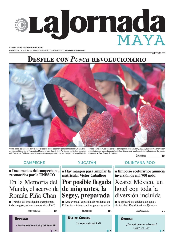 La Jornada Maya · lunes 21 de noviembre, 2016 by La Jornada Maya - issuu