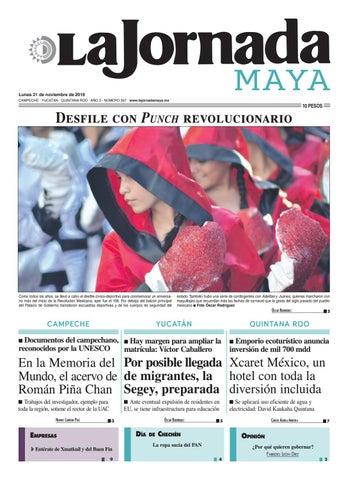 La Jornada Maya · lunes 21 de noviembre 5c2e894115e49