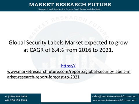b2643b61 Global security labels market expected to grow at cagr of 6 4% from 2016 to  2021