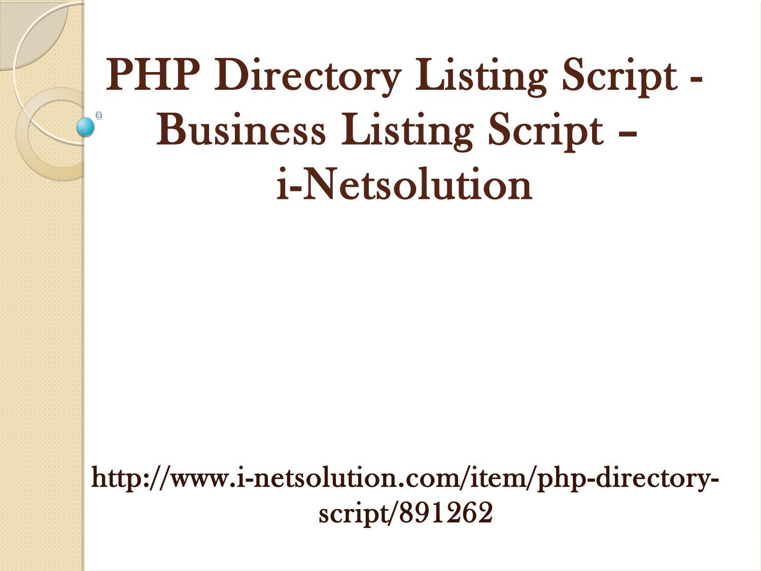 PHP Directory Listing Script - Business Listing Script - i ...