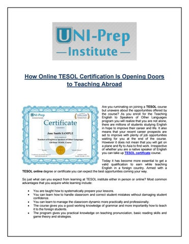 How online tesol certification is opening doors to teaching abroad ...