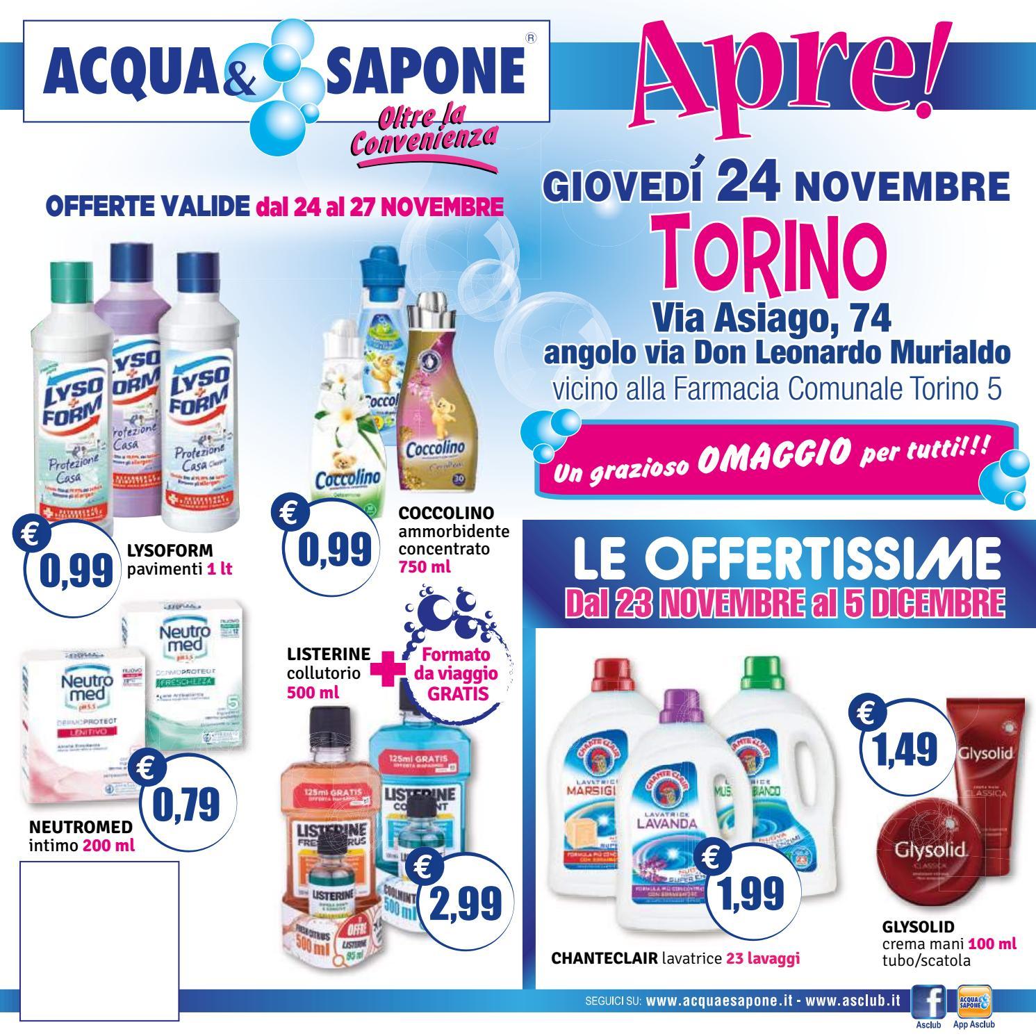 Volantino acqua sapone apertura torino by acqua sapone for Asclub volantino