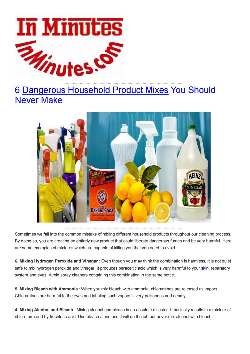 6 Dangerous Household Product Mixes You Should Never Make By Health