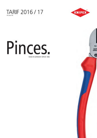 KNIPEX 34 32 130 Pince de pr/éhension de pr/écision pour l/'/électronique brunie avec gaines bi-mati/ère 135 mm