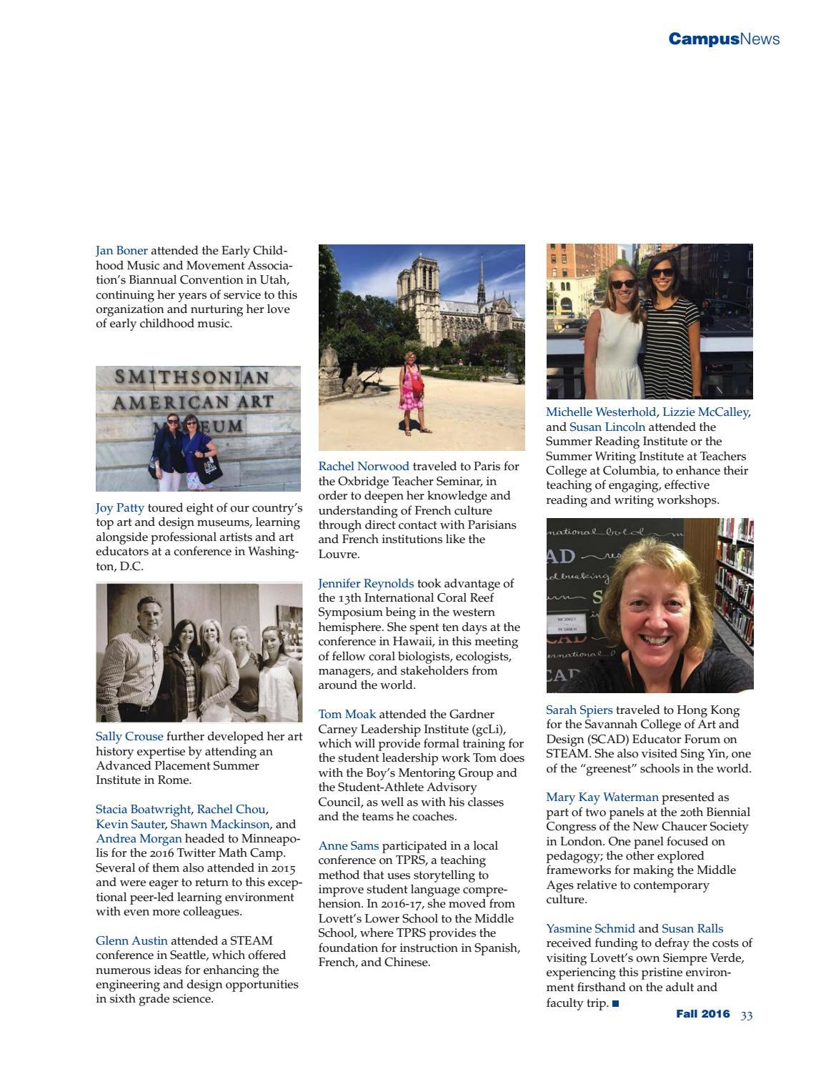 Lovett Magazine, Fall 2016 by The Lovett School - issuu