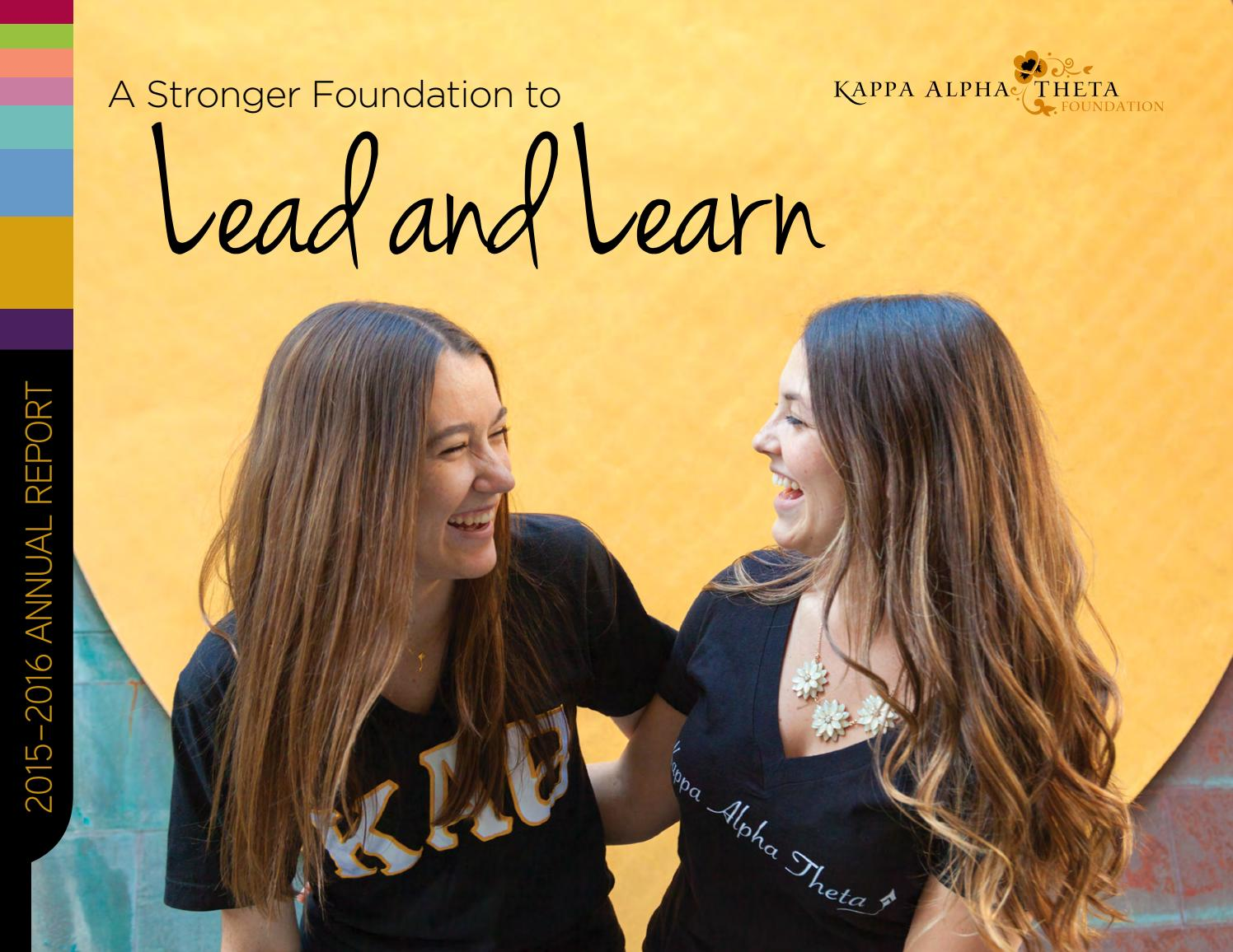 ea62f349f3979e 2015-2016 Theta Foundation Annual Report by Kappa Alpha Theta Foundation -  issuu