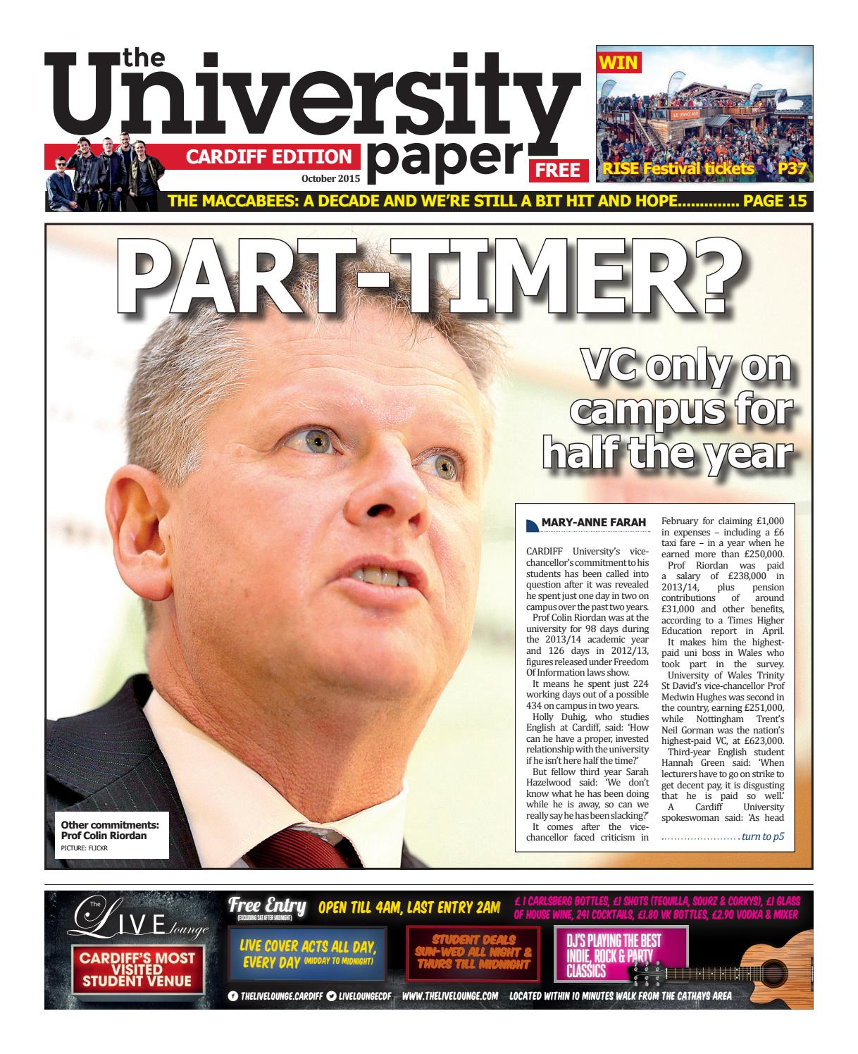 Cardiff Edition October 20 by The University Paper   issuu