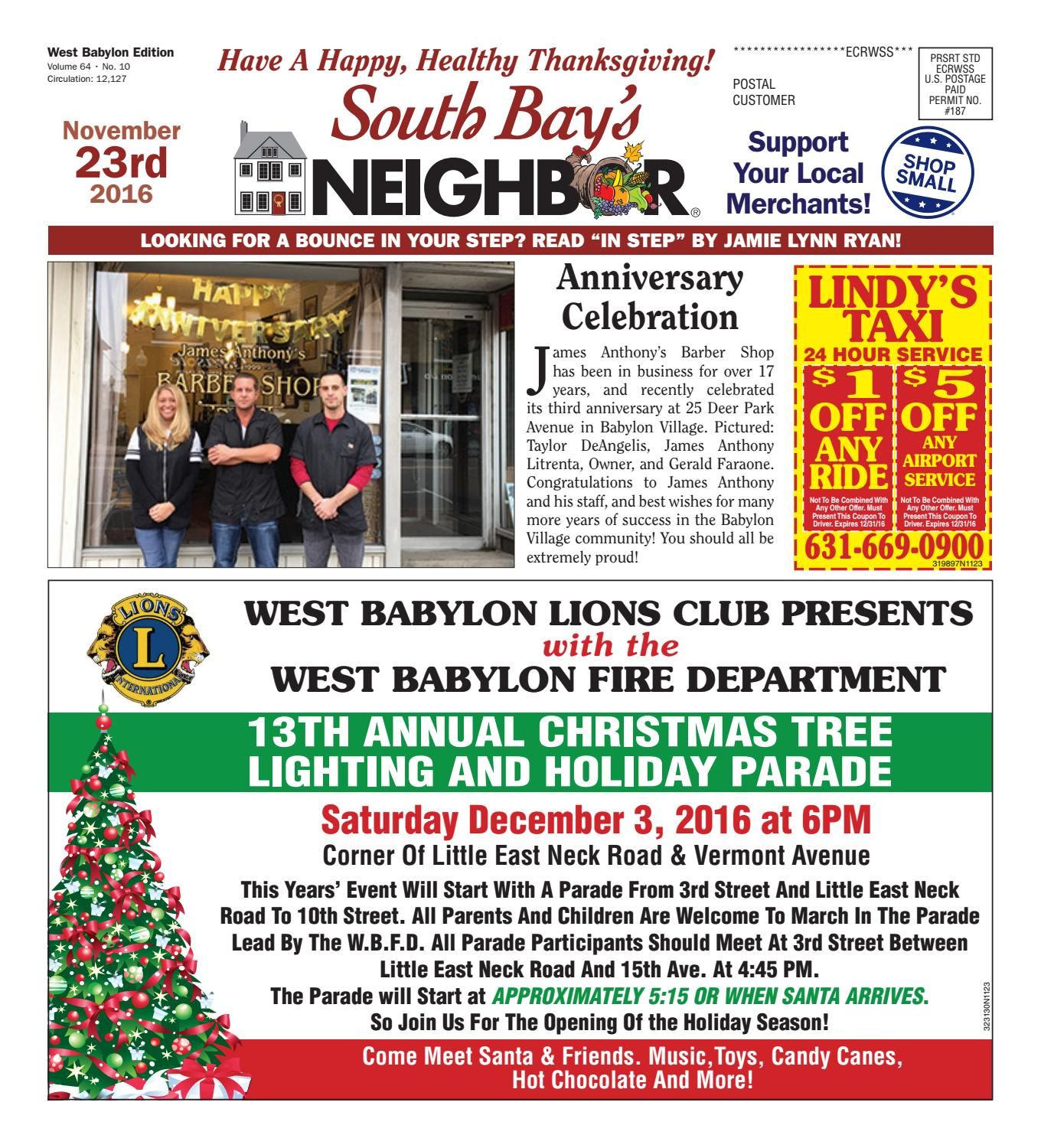 November 23 2016 West Babylon by South Bay s Neighbor Newspapers