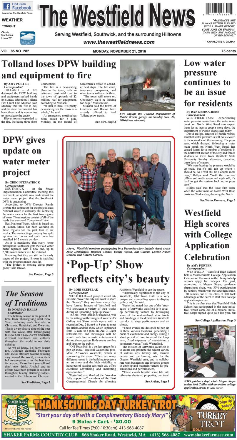Monday, November 21, 2016 by The Westfield News - issuu