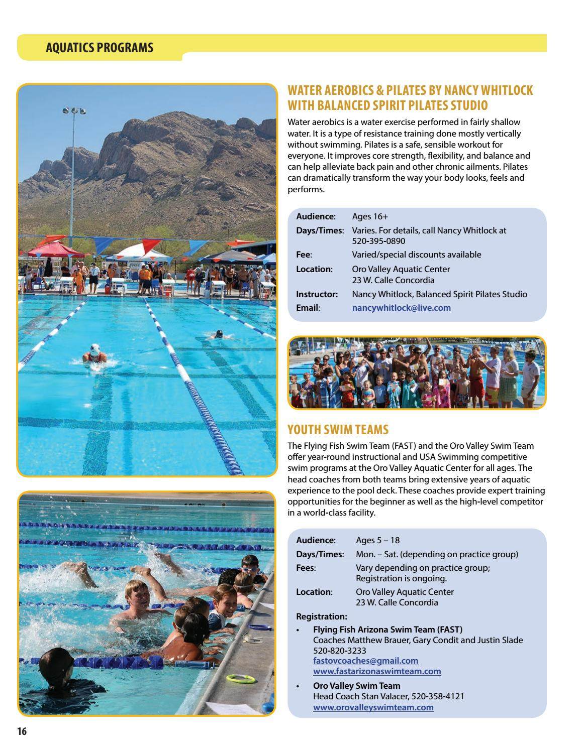 Town of Oro Valley Parks and Recreation Guide Spring 2017 by