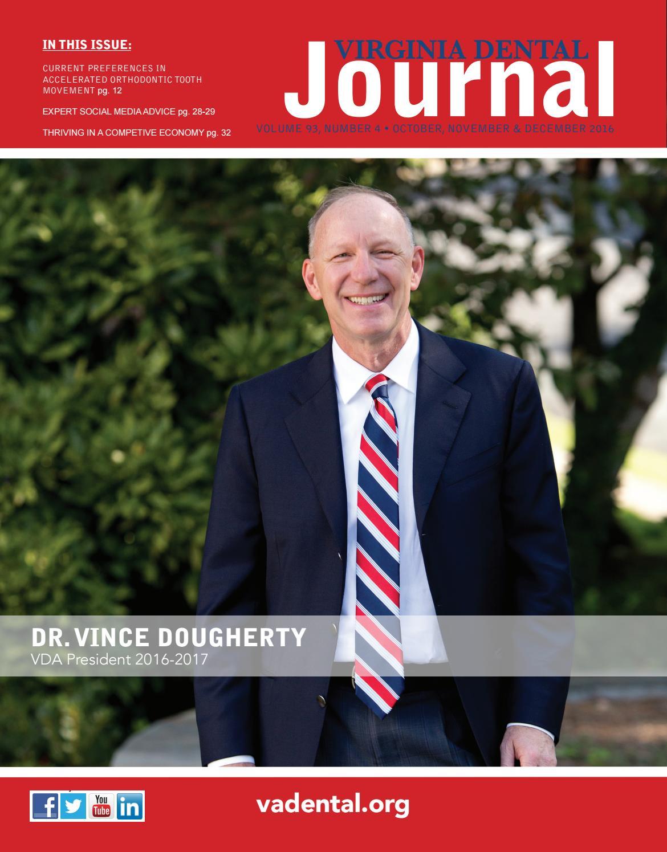 Virginia Dental Journal Vol 93 #4 October 2016 by Virginia