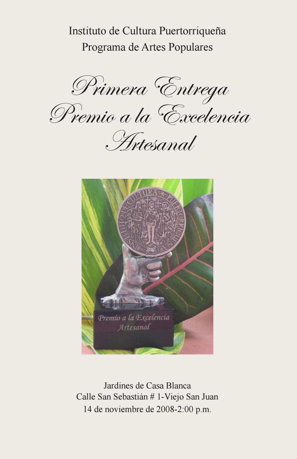 1 Premio Exelencia Artesanal By Promoci N Cultural Y Artes  # Muebles Villalobos Ciales