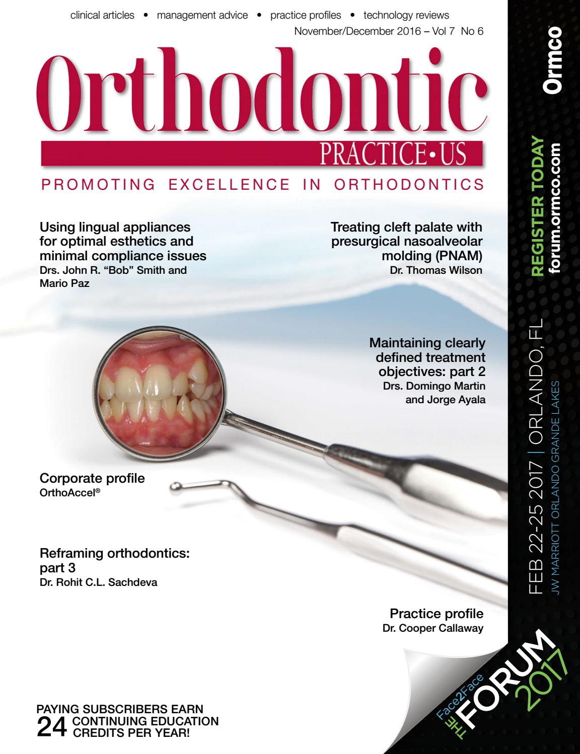 Orthodontic Practice US November-December 2016, Vol 7 No 6 by