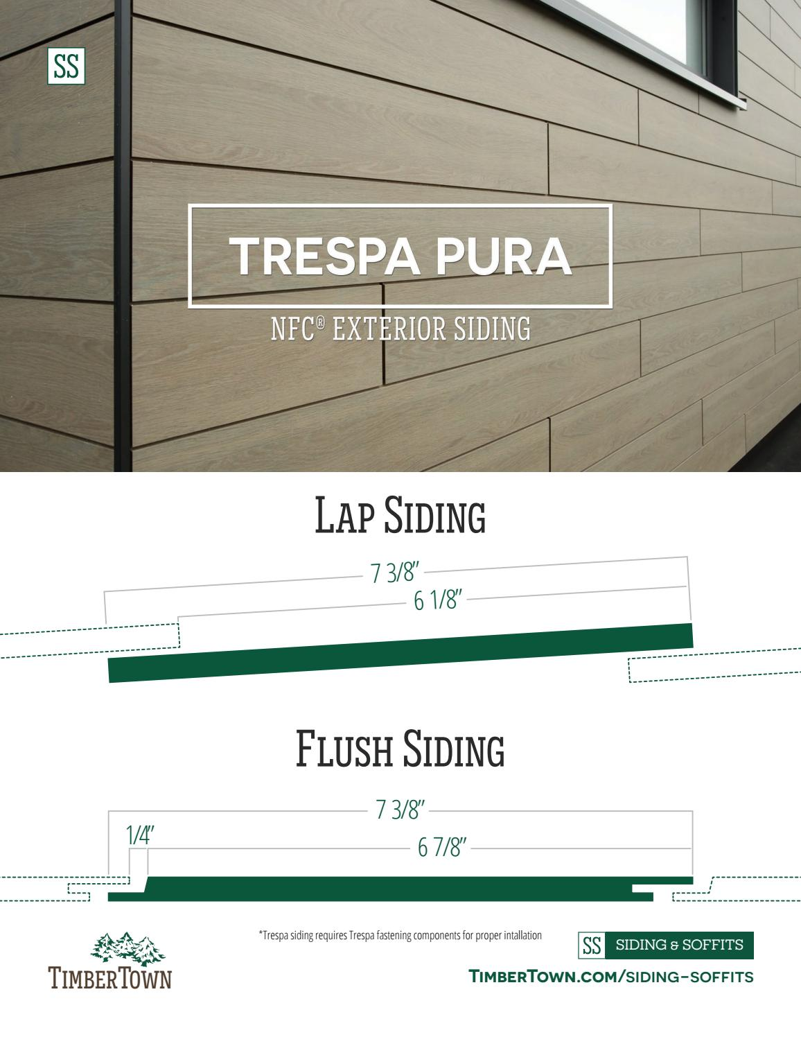 Trespa Pura Nfc Exterior Siding Lap And Flush Profiles