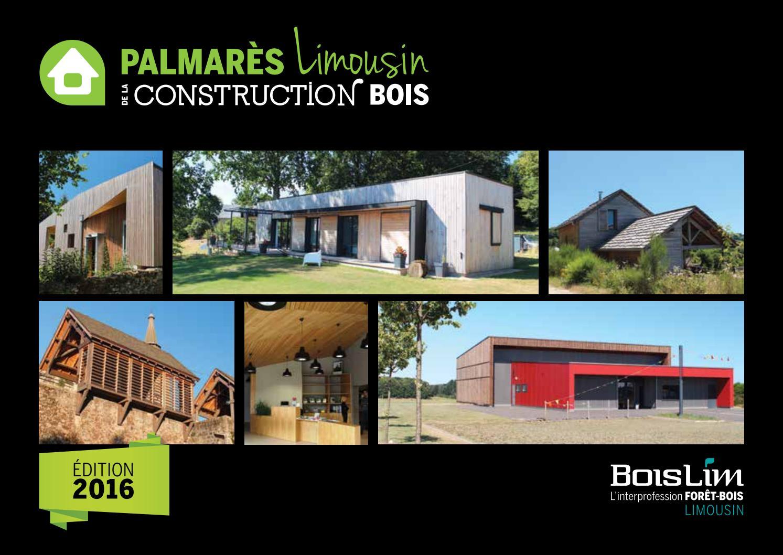 Constructeur Maison En Bois Limoges palmarès limousin de la construction bois 2016boislim