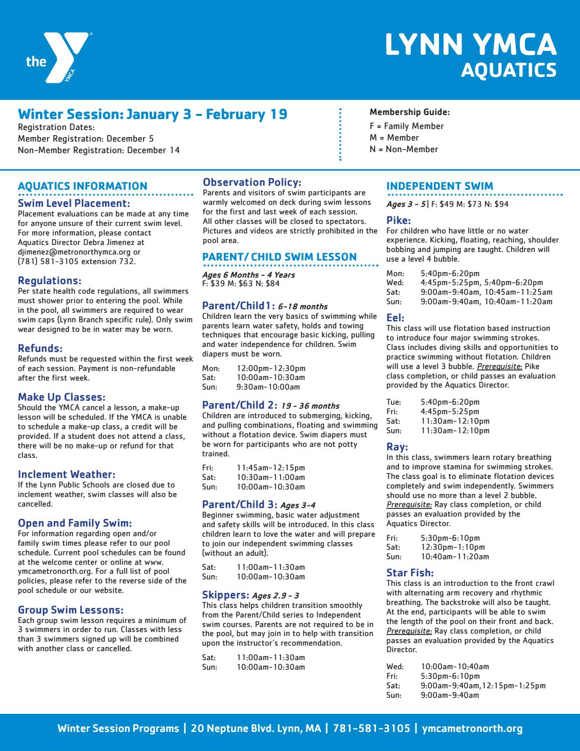 lynn ymca winter programs by ymca of metro north issuu