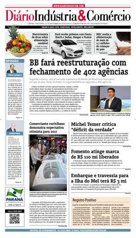 4e71c858fa Diário Indústria Comércio - 22 de novembro de 2016 by Diário ...