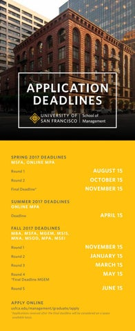 Usf School Of Management Application Deadlines By Usf School Of