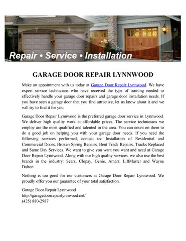 Garage Door Repair Lynnwood By Garage Door Repair Lynnwood Issuu