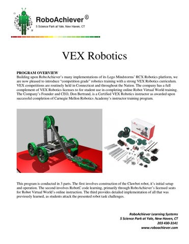 Vex robotics workbook by Donald Bertrand - issuu