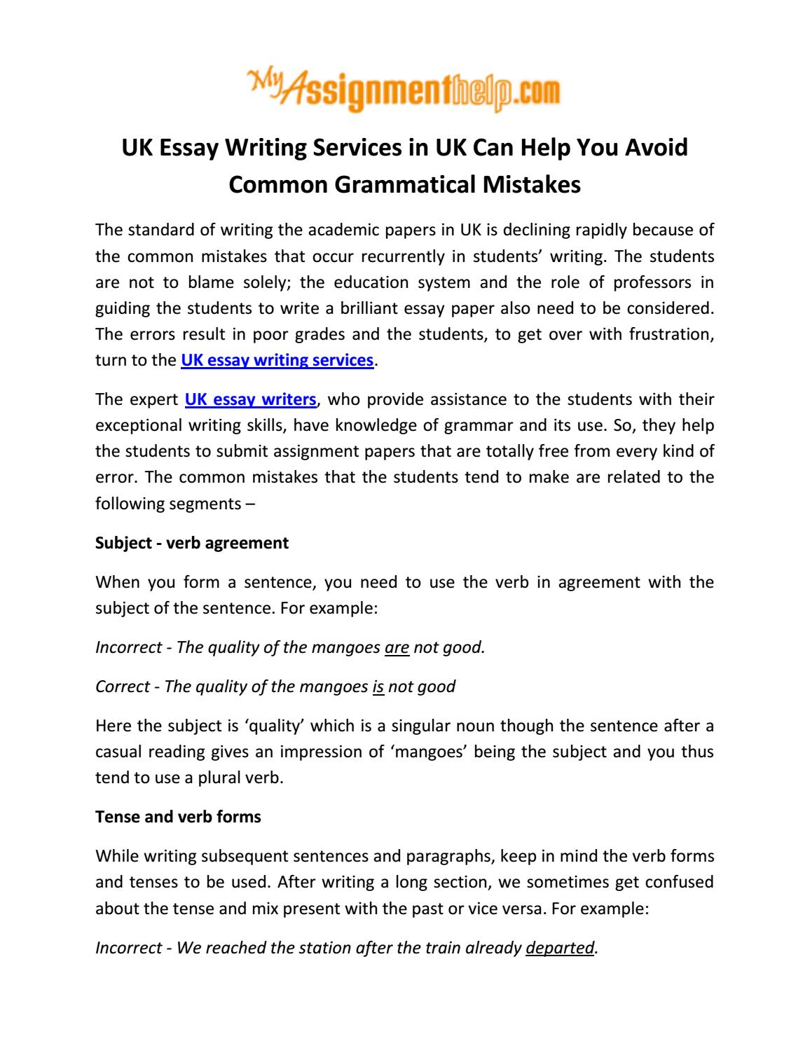 Persuasive Essay Outline Sample Uk Essay Writing Services In Uk Can Help You Avoid Common Grammatical  Mistakes By Brody Walker  Issuu Microeconomics Essay Topics also Introduction To Leadership Essay Uk Essay Writing Services In Uk Can Help You Avoid Common  Bulimia Essay